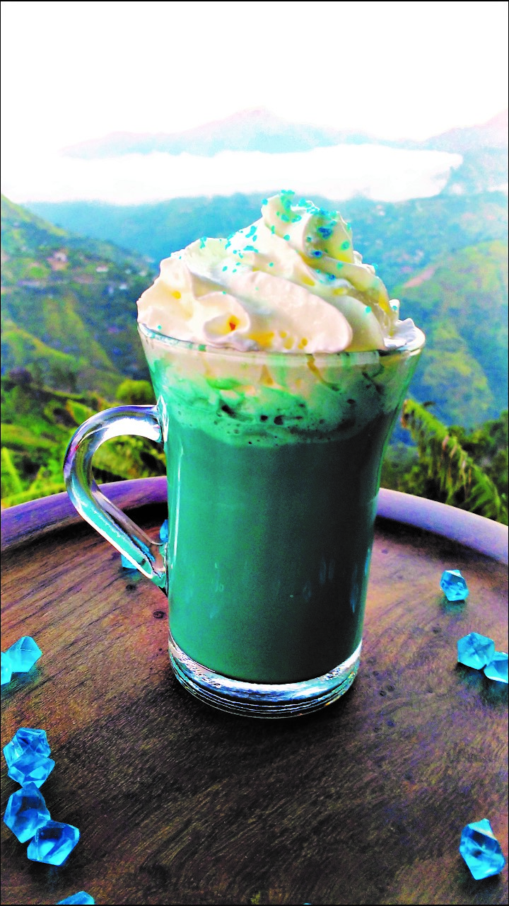blue hot chocolate